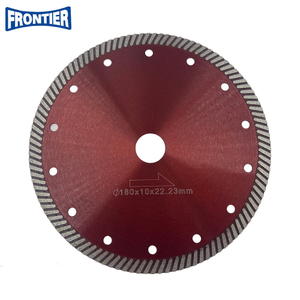 180*2.5/1.6*10*110*22.23mm Hot Press 6inch CN Supplier Turbo Diamond Circular Saw Blade for Dry Cutting Disc Ceramic Tile