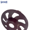 130*30/15*7.5*5*16*25 High Frequency Diamond Cup Diamond Grinding Wheel for Concrete , Stone