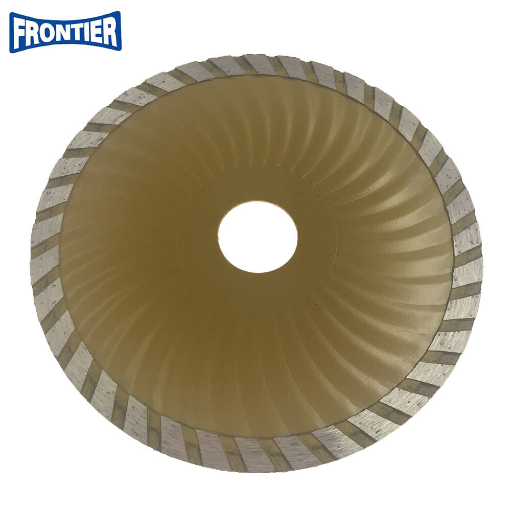 125*2.5/1.2*7*36*22.23mm Cold Press 9inch sintered diamond continue rim turbo diamond saw blade for cutting general purpose