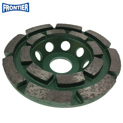 100*30/20*8*5*16*20mm Silver brazed 4inch diamond double row grinding cup wheel for concrete , stone